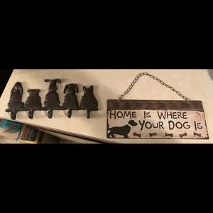 Other - Dog leash hanger and wall decor